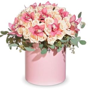 """Цветы в коробке """"Дуэт"""""""