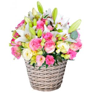 """Цветы в корзинке """"Впечатление"""""""